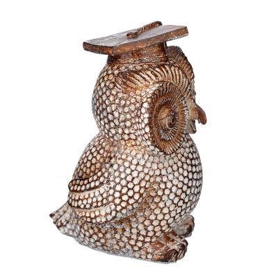 509-806 Фигурка в виде совы, 11х7,5 см, полистоун