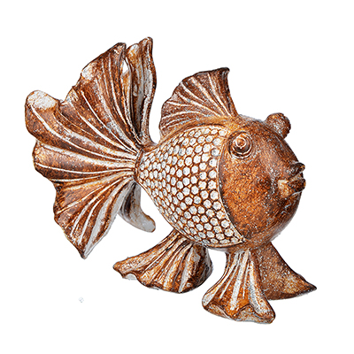 509-807 Фигурка в виде рыбы, 11х9,5 см, полистоун