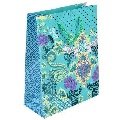 507-959 Пакет подарочный, высококачественная бумага с глиттером, 18х23х8 см, 4 цвета