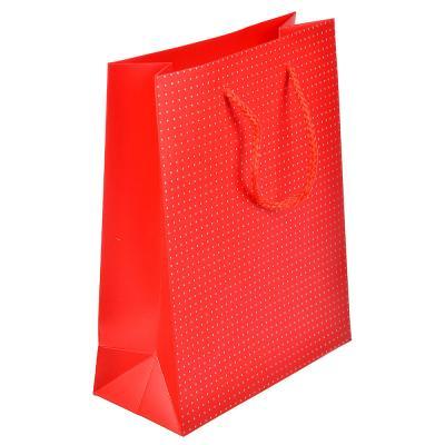 507-960 Пакет подарочный, высококачественная бумага с фолдингом, 26х32х10 см, красный и синий, 2 цвета