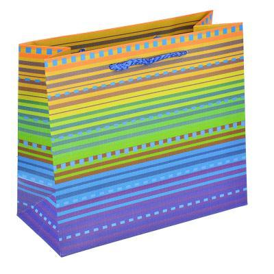 507-968 Пакет подарочный, высококачественная бумага, 18х16х8 см, яркие краски, 6 цветов