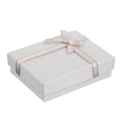 207-020 Коробка подарочная с бантом, 7х9х2,5 см, 6 цветов
