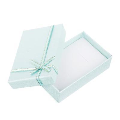207-024 Коробка подарочная с бантом, 5х8х2,5 см, 5 цветов
