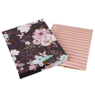 207-026 Коробка подарочная складная с фольгированным слоем, бумага, 5 цветов (21х16х7,5 см)