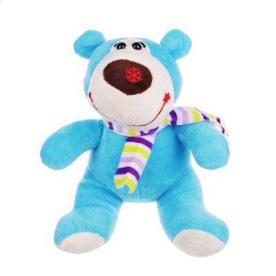 264-203 МЕШОК ПОДАРКОВ Мягкая игрушка в виде Медведя в шарфе, 21см, полиэстер, 4-8 цветов