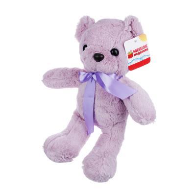 264-204 МЕШОК ПОДАРКОВ Игрушка мягкая в виде медведя цветного, 32 см, полиэстер, 6-10 цветов