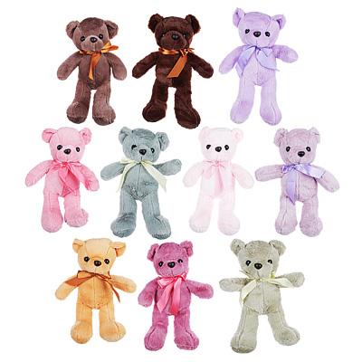 264-204 МЕШОК ПОДАРКОВ Мягкая игрушка в виде Медведя цветного, 32 см, полиэстер, 6-10 цветов