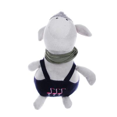264-205 МЕШОК ПОДАРКОВ Мягкая игрушка в виде зверей в одежде, 23см, полиэстер, 3-6 дизайнов