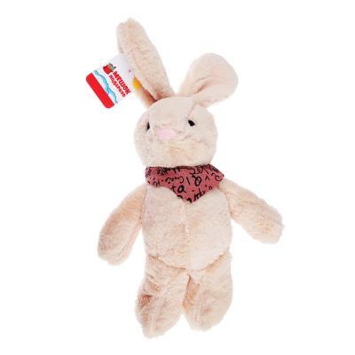 264-206 МЕШОК ПОДАРКОВ Мягкая игрушка в виде Зайчика с косынкой, 27см, полиэстер, 3-4 цвета