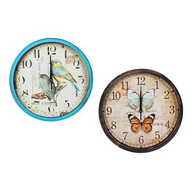 581-733 Часы настенные, с бабочками, пластик, 30 см, 1хАА