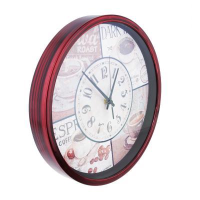 581-734 Часы настенные, с кофе, пластик, 30 см, 1хАА