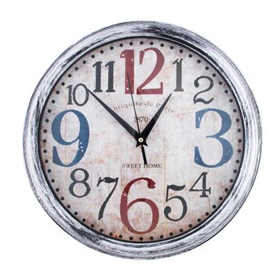 581-735 Часы настенные, крупные цифры, пластик, 33,5 см, 1хАА