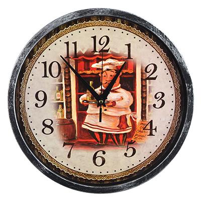 """581-737 Часы настенные, пластик, 30 см, 1хАА, """"Повар"""""""