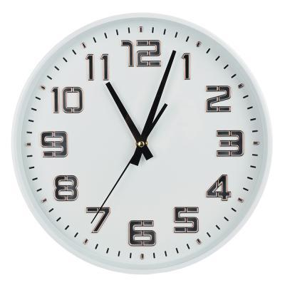 581-739 Часы настенные, светящиеся, пластик, 30 см, 1хАА, USB, зеленые