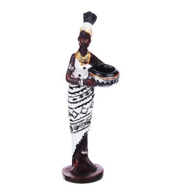 509-811 Статуэтка в виде африканки, 15-15,5 см, полистоун, 4 дизайна