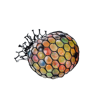 297-046 Мялка разноцветная, полимер, 6х6х6см