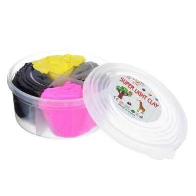 289-137 Глина застывающая легкая, в наборе 4 цвета, 50-60гр, полимер, 8х4х4см, 4-12 цветов