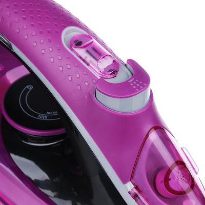 249-018 Утюг LEBEN LED 2200 Вт, подошва керамика, светодиодный индикатор нагрева, розовый/черный