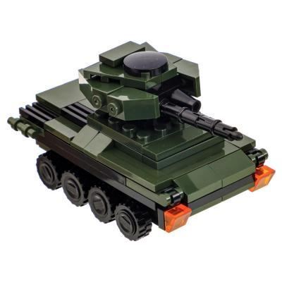 858-040 ИГРОЛЕНД Армия Конструктор Военный транспорт, 96дет., пластик, 15х10х6см