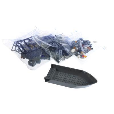 858-043 ИГРОЛЕНД Армия Конструктор Военный крейсер, 193дет., пластик, 20x15x6см