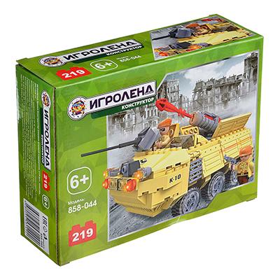 858-044 ИГРОЛЕНД Армия Конструктор машина огневой поддержки, 219дет., пластик, 20х15х6см
