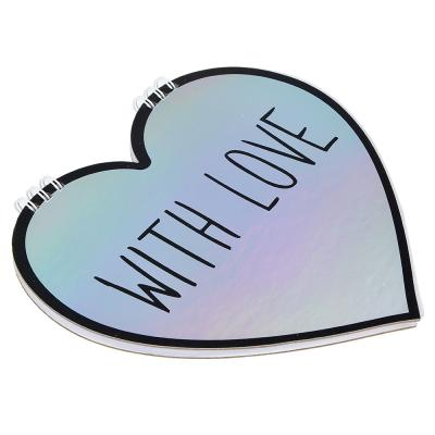 540-004 Блокнот - валентинка в форме сердца 60 листов, 2 дизайна
