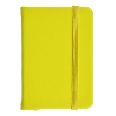 574-017 Записная книжка в клетку с резинкой, 80 л., твёрдая обложка, 4 неоновых цвета, 7,5х10,5 см