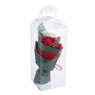 412-025 Ароманабор из мыльных лепестков в виде букета, 25х10х10 см, 4 цвета