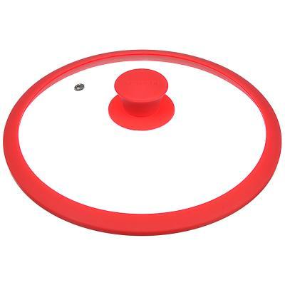 848-055 Крышка для сковороды d.24 см SATOSHI, стекло/силикон с ручкой, 3 цвета