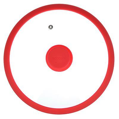 848-055 Крышка для сковороды d. 24 см SATOSHI, стекло/силикон с ручкой, 3 цвета