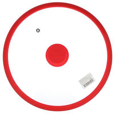 848-057 Крышка для сковороды d. 28 см SATOSHI, стекло/силикон с ручкой, 3 цвета