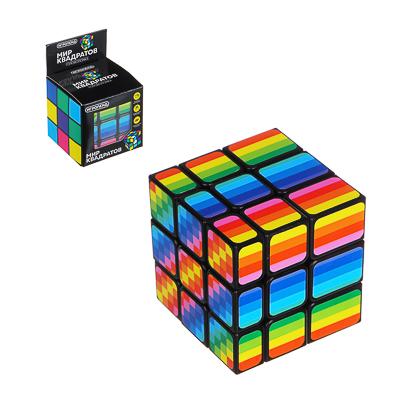 "214-013 ИГРОЛЕНД Головоломка ""Мир квадратов. Кубик"", пластик, 5,8х5,8х5,8см"