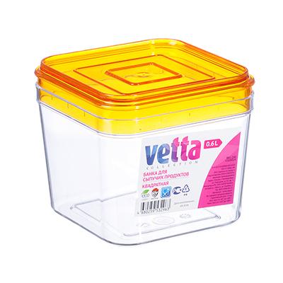 861-246 VETTA Емкость для сыпучих продуктов 0,6л, пластик, V168024