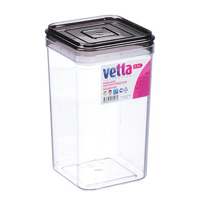 861-247 Емкость для сыпучих продуктов 1,3 л, пластик, VETTA
