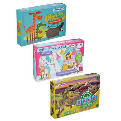 897-028 ИГРОЛЕНД Игра-ходилка настольная, картон, пластик, 24х16х4см, 6-8 дизайнов