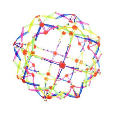 214-016 Игрушка в виде шара-трансформера, пластик, 14см, разноцветная