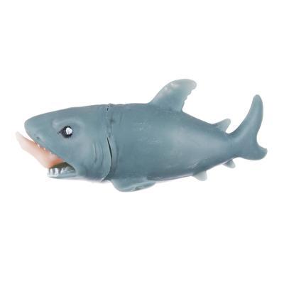 297-047 Мялка-антистресс в виде акулы с ногой в пасти, резина, 12см, 1 дизайн