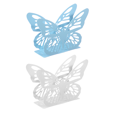 "844-096 Салфетница металлическая 13х9 см ""Бабочка"", 2 цвета"