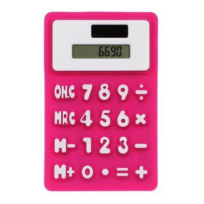 580-002 Калькулятор 8-разр.с гибким силиконовым корпусом и магнитом, солн.питание, 7,3х11,6см, 4 цв