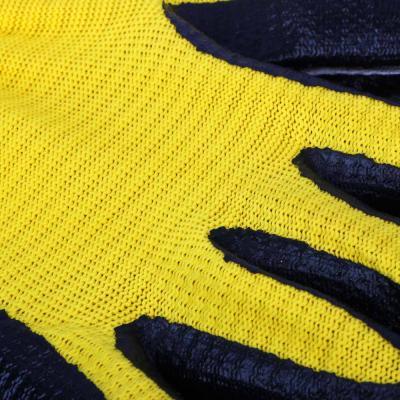 188-070 Перчатки садовые, нейлон с нитриловым полуобливом, 50 гр, 2 цвета,  10 размер, INBLOOM
