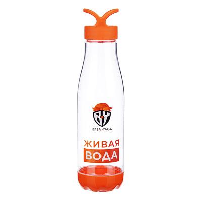 088-013 Бутылка для воды, 0,66 л, 26х6.5 см, PC и PP, BY
