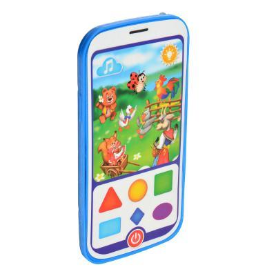 272-636 ИГРОЛЕНД Игрушка электронная обучающий смартфон со сказками, пластик, пит. 3ААА, 16х8х1,5см