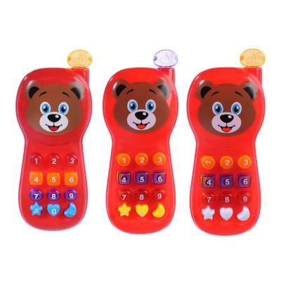 272-637 ИГРОЛЕНД Игрушка электронная телефон обучающий, свет, звук, полимер, пит. 2АА, 17,8х7,3х3,5см