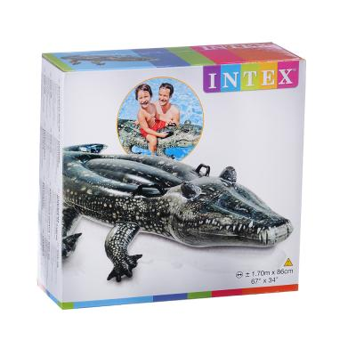 063-003 Плотик надувной, 170х86 см, INTEX Аллигатор, 57551