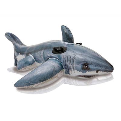 063-004 Надувная игрушка-наездник INTEX 57525 Белая акула от 3 лет