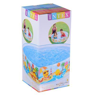 109-273 Надувной бассейн для детей INTEX 57441 Утиный риф 122х25 см с 3 лет