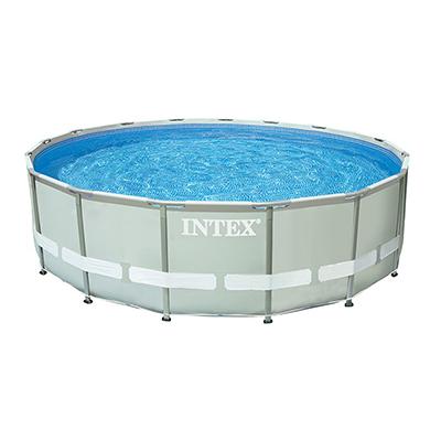 049-008 Каркасный бассейн призматический INTEX 26724 с фильтр-насосом, 457х107 см