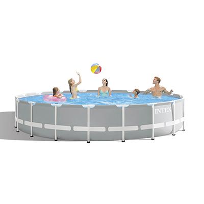 049-010 Каркасный бассейн призматический INTEX 26732 с фильтр-насосом, 549х122 см