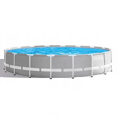 049-011 Каркасный бассейн призматический INTEX 26756 с фильтр-насосом, 610х132 см
