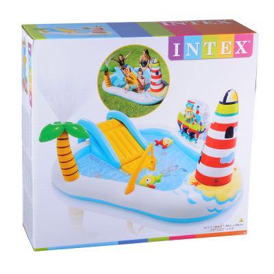 054-006 Игровой центр, 218х188х99 см, возраст от 3 лет, INTEX Веселая рыбка, 57162